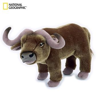 "National Geographic 10.5"" Brown Buffalo kawaii stuffed plush animals animal toys for boys girls children adult мягкие игрушки"