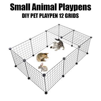 Small Pet Playpen Bunny Cage Splicing Pet Fence Pet Supplies for Rabbit Removable splicing game fence iron mesh фото