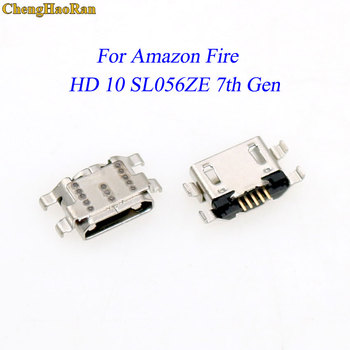 1pcs For Amazon Fire HD 10 SL056ZE 7th Gen Replacement repair part Micro charging port USB Connector socket power plug dock image