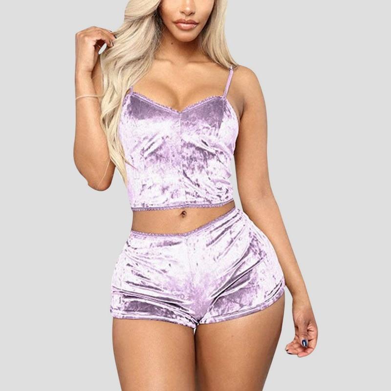 Pyjama ensemble de nuit soie sexy satin