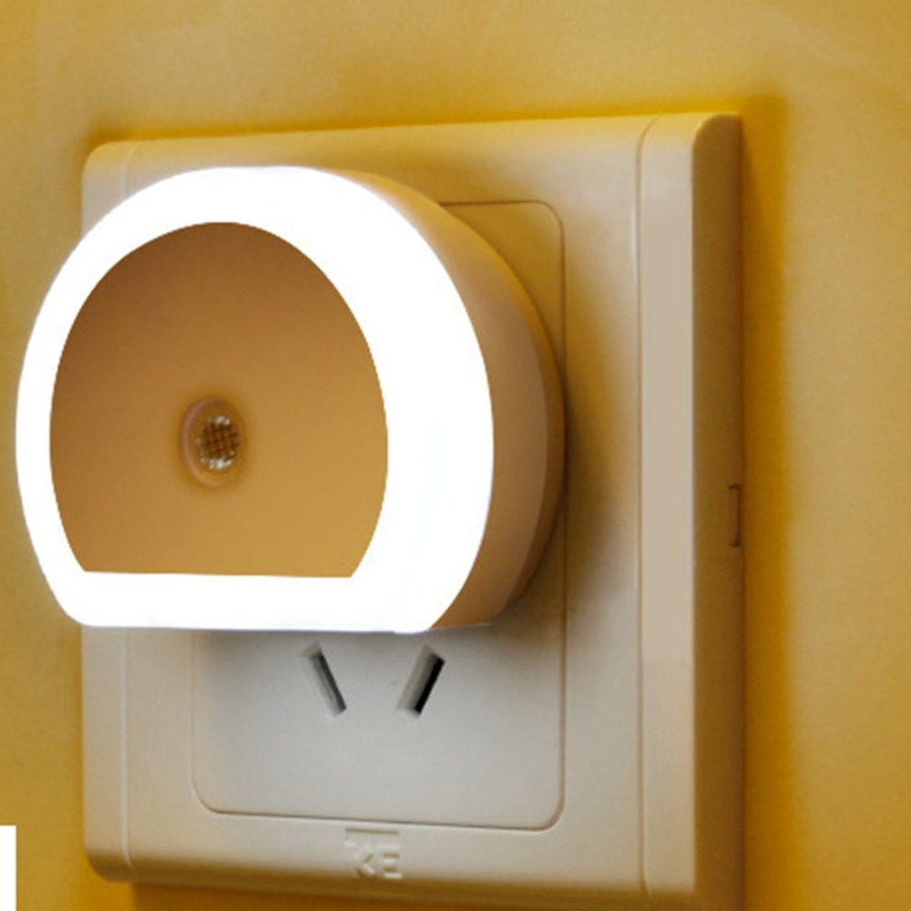 ICOCO LED Night Light With Dual USB Wall Charger Plug Power-saving Dusk To Dawn Sensor Wall Lamp EU/US Plug Socket Lamps