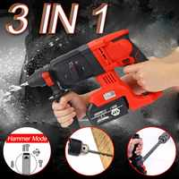 88V/128V/228V Multifunction Rechargeable 110 240V Electric Cordless Brushless Hammer Impact Power Drill with Lithium Battery