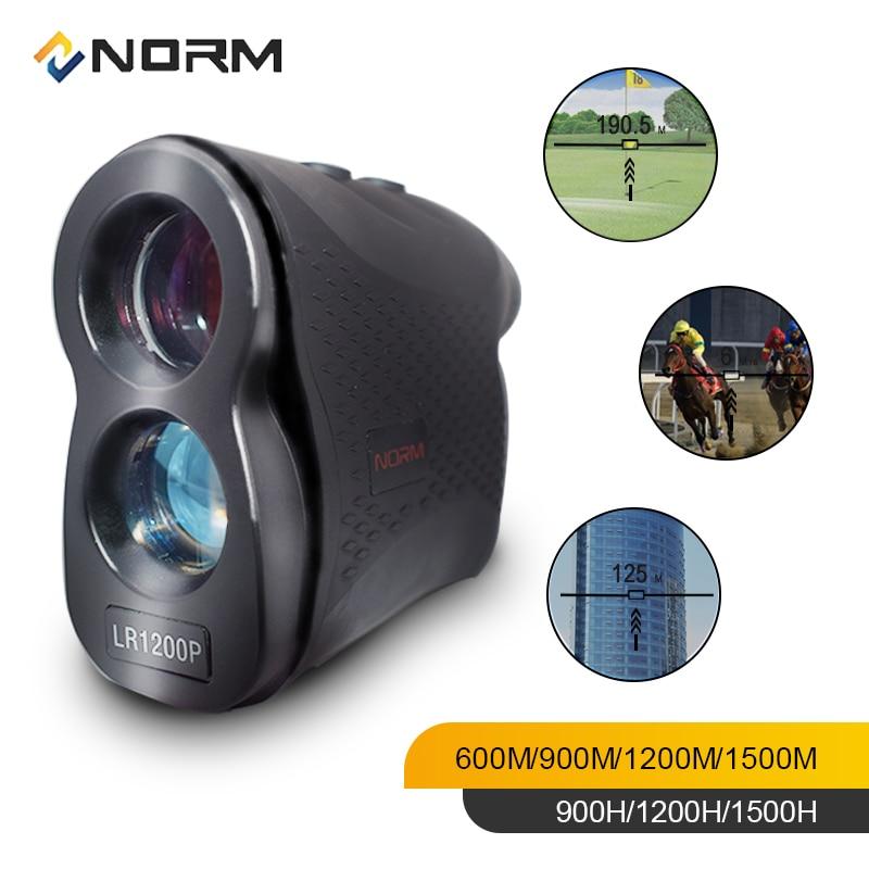 NORM Laser Rangefinder 600M 900M 1200M 1500M Laser Distance Meter for Golf Sport, Hunting, Survey-in Laser Rangefinders from Tools