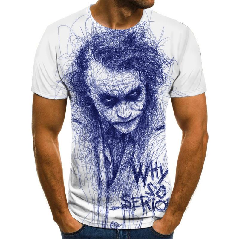 Camiseta de payaso para hombre/mujer, cara de Joker con estampado 3D de Terror, camisetas de moda, talla XXS 6XL111, gran oferta