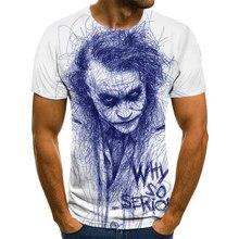 Camiseta de payaso para hombre/mujer, cara de Joker con estampado 3D de Terror, camisetas de moda, talla XXS-6XL111, gran oferta