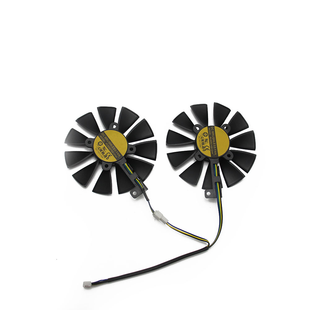 Image 4 - 87MM GTX1060 GTX1070 RX480 Cooler Fan For ASUS GTX 1060 1070 RX 480 Graphics Card  T129215SU PLD09210S12HH 28mm Cooling Fans-in Fans & Cooling from Computer & Office