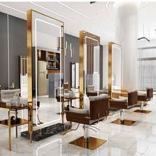 Barbershop зеркало знаменитости Простой пол-в-зеркало на потолок шкаф стены Парикмахерское зеркало выделенное Мода