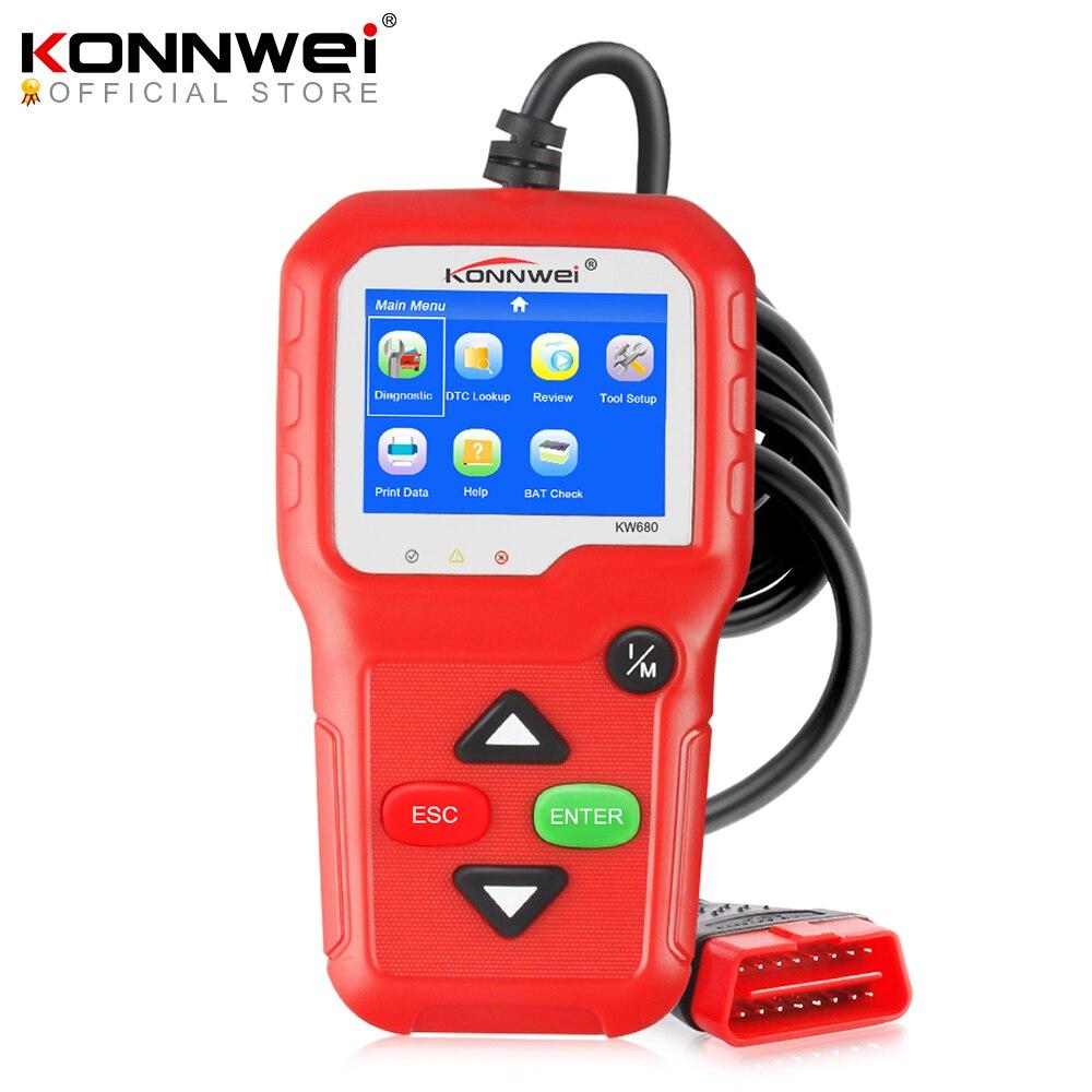 100% Original OBD2 Scanner Automotive Scanner KONNWEI KW680 OBD 2 EOBD Car Diagnostic Scanner Fault Error Code Reader Scan Tool