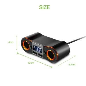 Image 3 - 3.5A Dual USB Auto Ladegerät Powstro mit Zigarette Leichter Buchse Led anzeige Ladegerät Für IPhone Xiaomi Auto Splitter Power Adapter