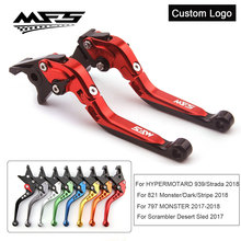 цена на CNC Brake Clutch Levers Handle For Ducati Monster 797 821 Dark Stripe Scrambler Desert Sled Hypermotard 939 Strada Brake Levers