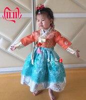 South Korea Imported Fabrics/girls New Korean Clothes/birthday Dresses/girls Stage Performance Korean Clothes HE TZ5182