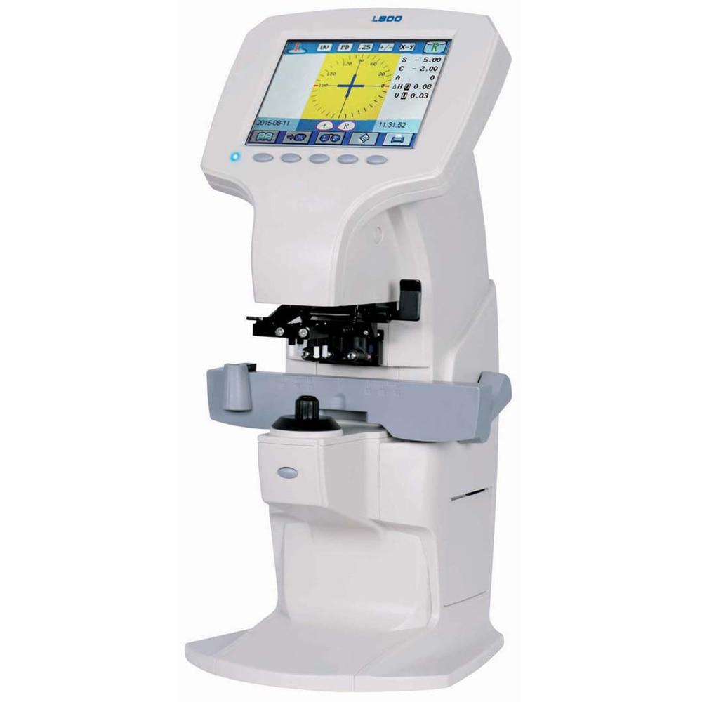 L-800 полнофункциональный цифровой объектив метр focimeter lensometer с PD УФ-принтер синий светильник - Цвет: white color
