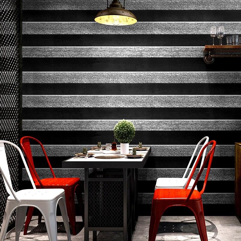 Modern Minimalist 3D Stripes Dull Polish Wallpaper Clothing Barber Shop Hotel Engineering PVC Waterproof Wallpaper
