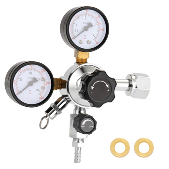 Keg na piwo CO2 Regulator bezpieczeństwa ciśnieniowy zawór nadmiarowy 0-3000 PSI zbiorniki ciśnienie regulowany sprzęt do parzenia dla barów degustacja pokoju tanie i dobre opinie STAINLESS STEEL Sprzęt karbonizacja