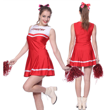 Classic Cheerleader Pompom Costume High School Sports Competition Dance Uniform Cosplay Carnival Party Fancy Dress