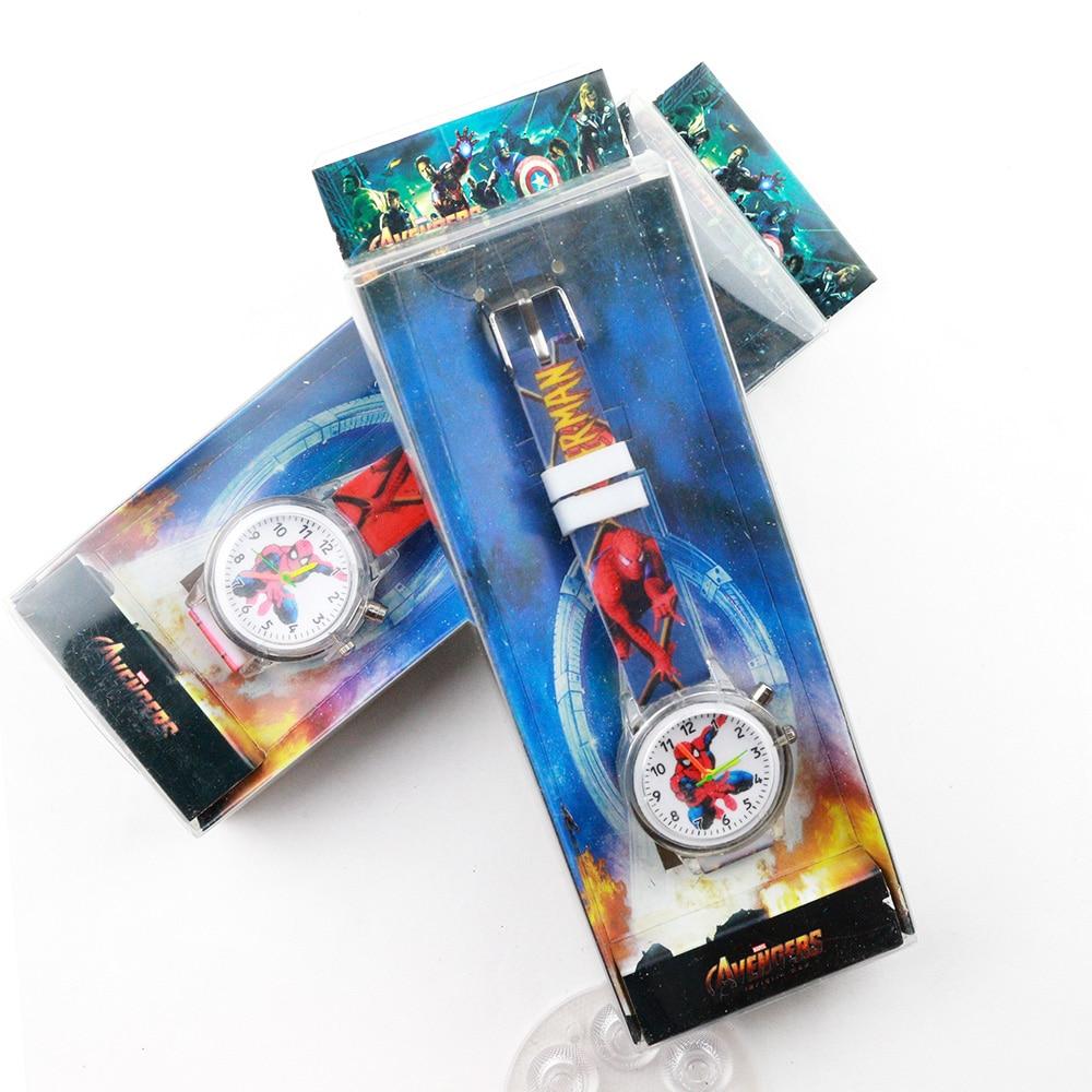 New Colorful Flash Light Children Watches Spiderman Boys Watch Kids Party Gift Clock Wrist Relogio Feminino Reloj Infantil