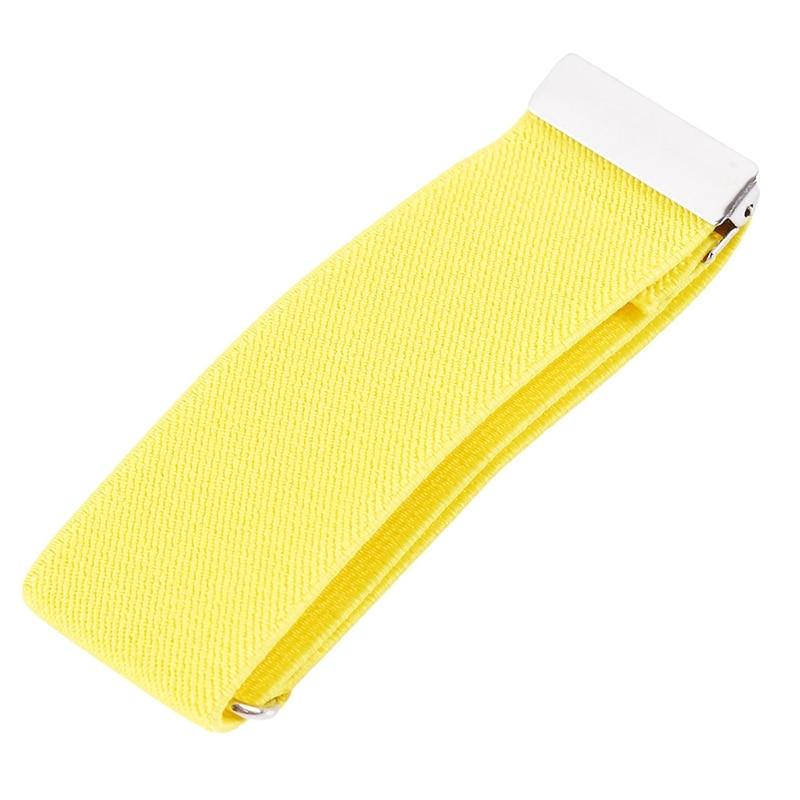 Mens Sleeve Garters Holders Solid Arm Bands Sleeve Shirt Groom Elastic Garter Metal Bracelet For Ladies Non-Slip Straps