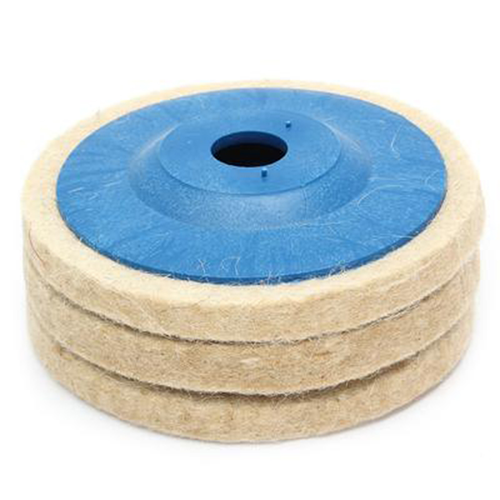 3pcs 100mm Polishing Disc Wool Buffing Angle Grinder Wheel Polishing Disc Pad  Abrasive Tools Applied To Stainless Steel