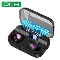 Qcr tws fone de ouvido sem fio bluetooth 5.0 fones exibição energia controle toque esporte estéreo sem fio caixa carregamento