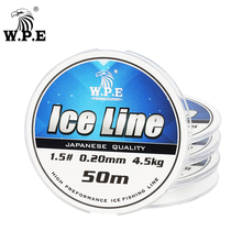Fishing-Line Strong-Monofilament Japanese-Material Nylon Ice W.P.E 30m/50m