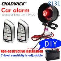 Neue 8131Non-destructive installatio auto alarm system DIY verbinden batterie einfach universal 12v fahrzeug sound alund sirene CHADWICK