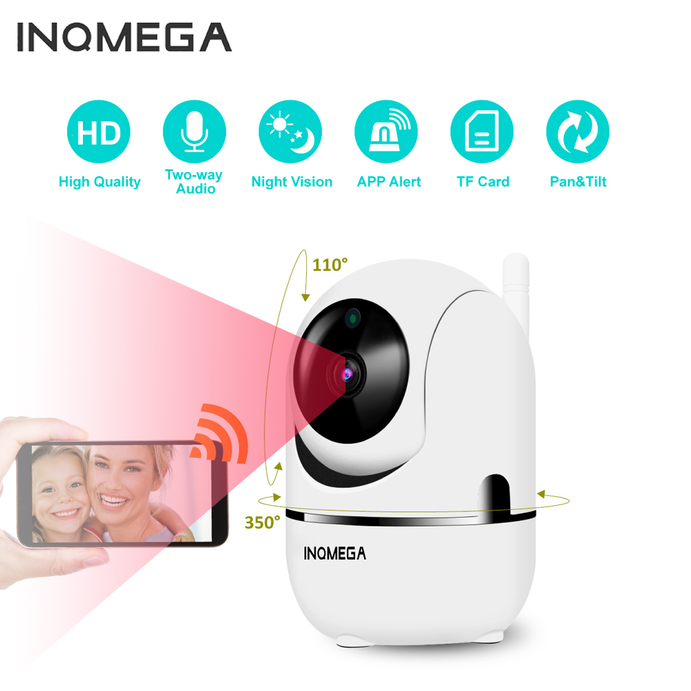 INQMEGA HD Cloud IP Camera Home Security Surveillance Camera Auto Tracking Network WiFi Camera Wireless CCTV Camera YCC365