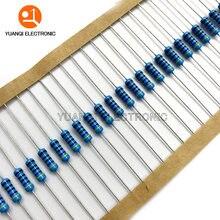 50 pces 1/2w resistor de filme de metal 1% 1k 1.1k 1.2k 1.3k 1.5k 1.6k 1.8k 2k 2.2k 2.4k 2.7k 3k 3.3k 3.6k 3.9k 4.3k 4.7k 5.1k 5.6k ohm
