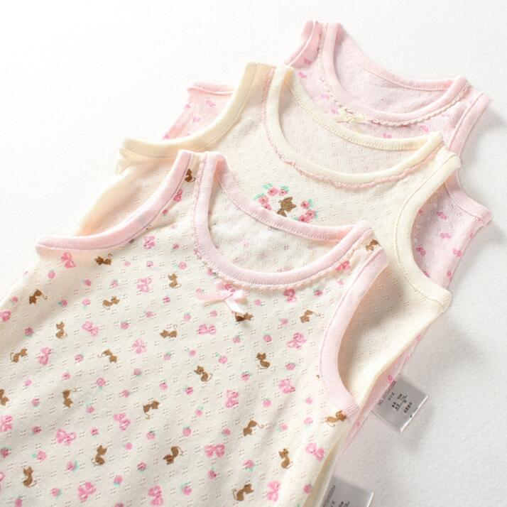 3pcs lot summer vest childrens cotton vest girls underwear vests kids children sleeveless T shirt XS08 1