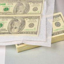 10 листов% 2FУпаковка смешной доллар узор салфетка бумага одноразовое полотенце чистое дерево портативный деньги салфетка носовой платок вечеринка посуда
