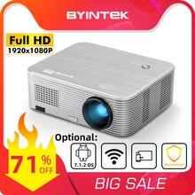 Byintek k15 1080p smart android completo hd 4k 300 polegada wifi laser 3d led vídeo projetor beamer para smartphone