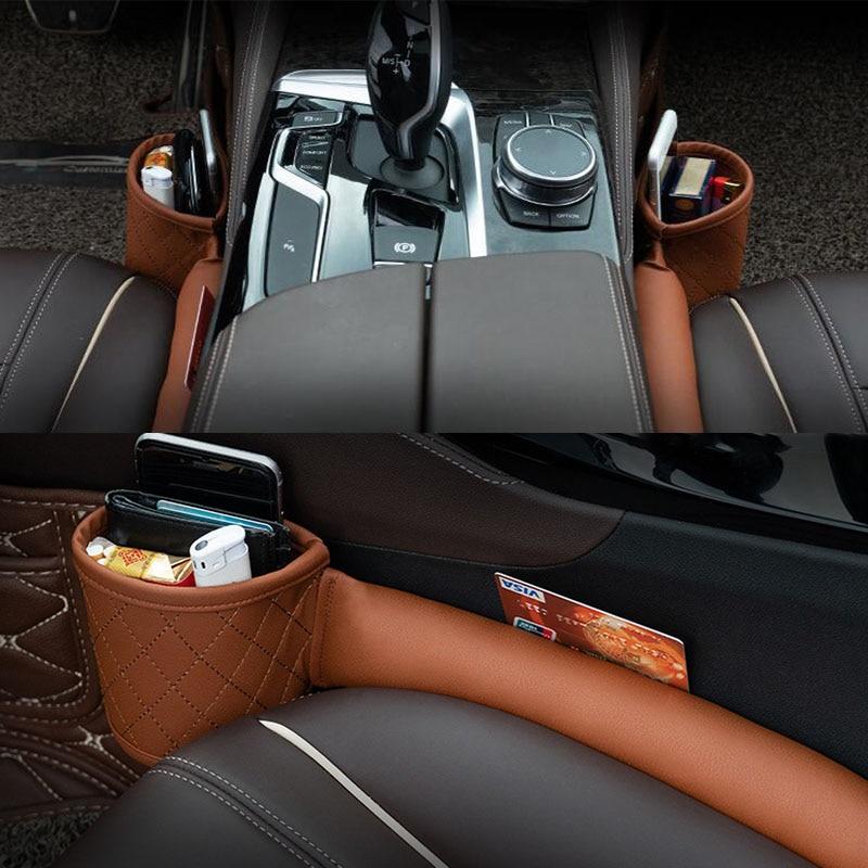 2 Pcs 1 Piar Car Multi-Functional Storage Box Storage Bag Car Seat Gap Leak-Proof Plug Strip Car Modified Gap Storage Box