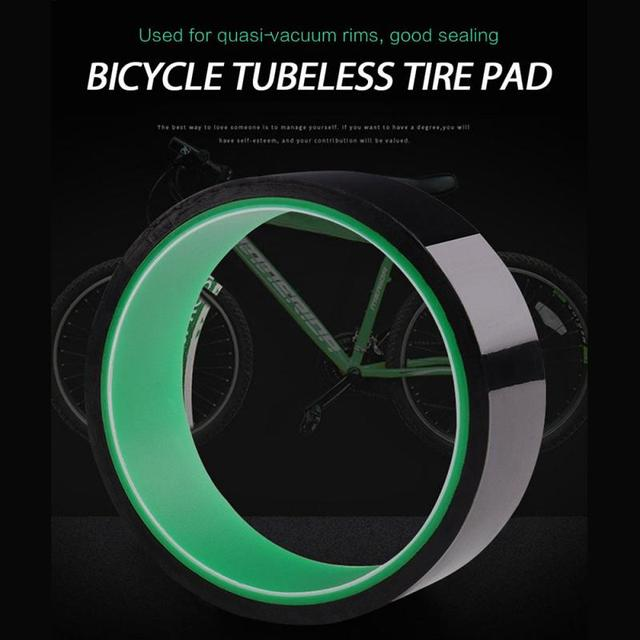 Bicycle Tubeless Tire Pad Vacuum Ring Lining Belt Tire Sealing Tire Pad Tape Bicycle Parts 20mm To 37mmx10m Sports&Entertainment