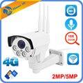 Камера 5 Мп, 4G, 3G, SIM карта, Wifi, для улицы, PTZ HD, 1080 P, цилиндрическая камера, беспроводная, IR, 60 м, 10х зум, автофокус, CCTV, Wifi, IP камера, аудио