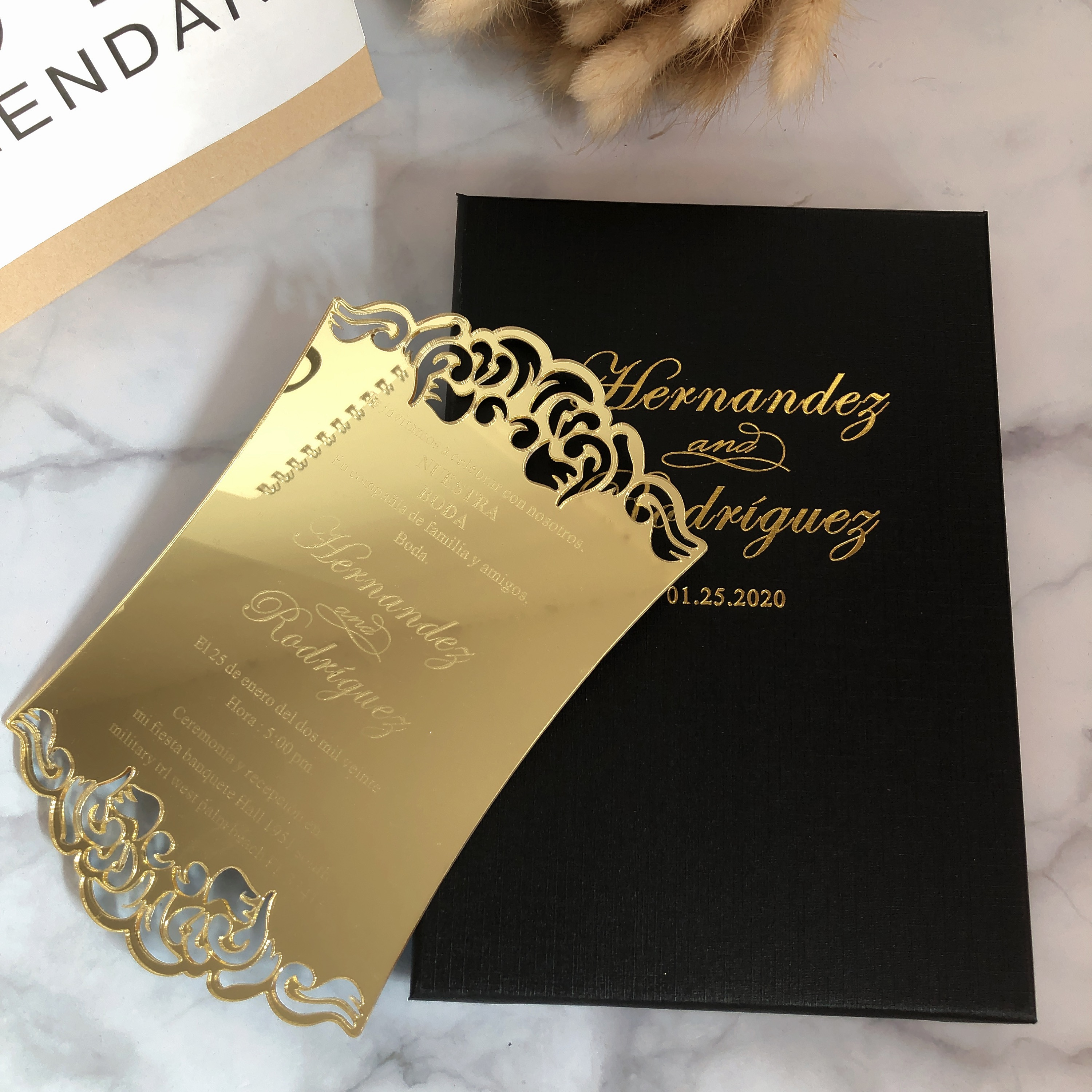 60 Free Personalized Custom Clear Glass Acrylic Wedding Invitation Cards With Boxes Cards Invitations Aliexpress