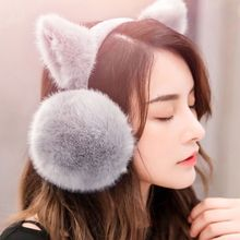 Earmuffs Women Plush Warm Earlap Winter Fashion Cute Soft-Earflap Fake-Fur Female Armorhero