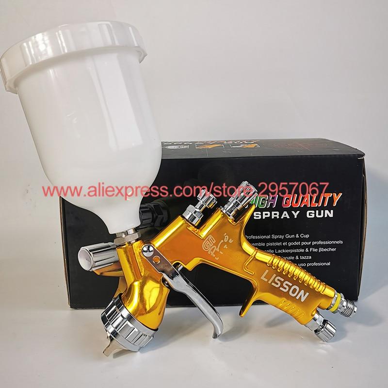 Professional GTI pro lite Golden Painting Gun TE20 T110 1 3mm nozzle spray gun paint gun water based air spray gun for car paint