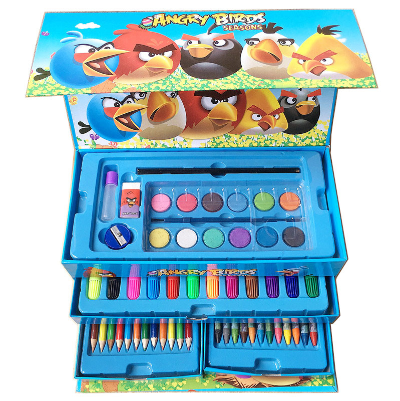 54 Color Children Watercolor Pens Set Painted Crayon Set Hand Drawer-type Students Learning Supplies Manufacturers Direct Sellin