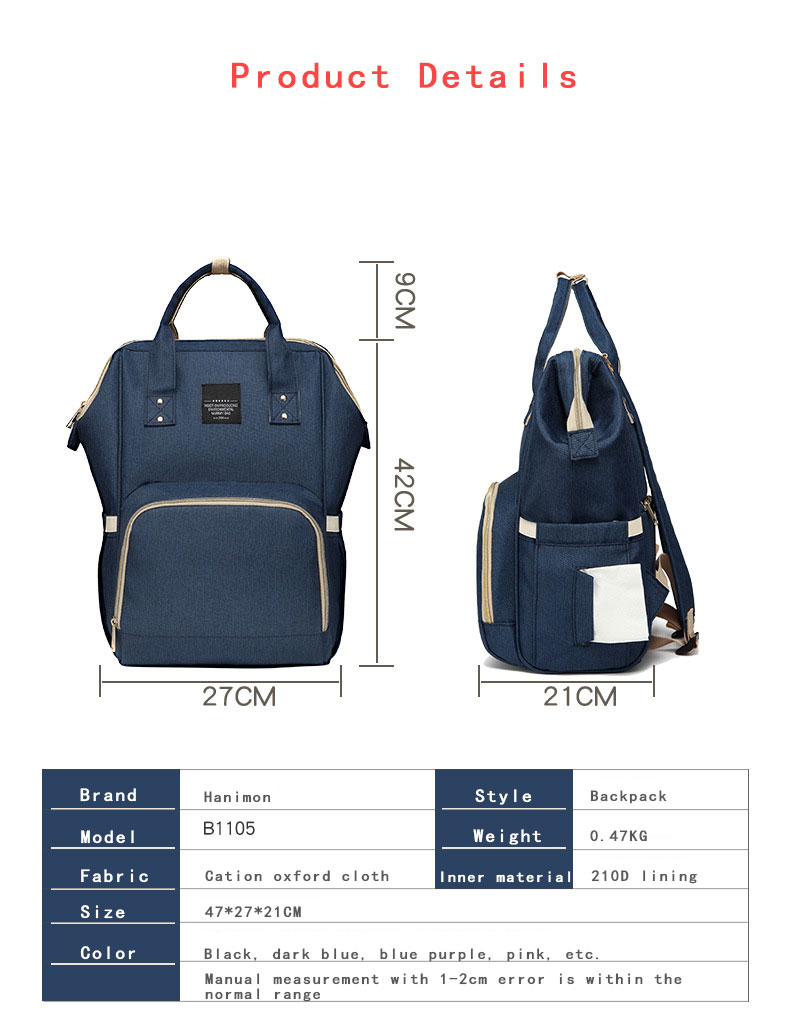 H2101b45694264ce69e69fad84dc8c5180 Fashion Mummy Maternity Nappy Bag Waterproof Diaper Bag With USB Stroller Travel Backpack Multi-pocket Nursing Bag for Baby Care
