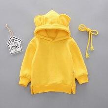 Новая весенне-осенняя одежда для маленьких мальчиков и девочек; хлопковый свитер с капюшоном; детская повседневная спортивная одежда для малышей; спортивная одежда для отдыха