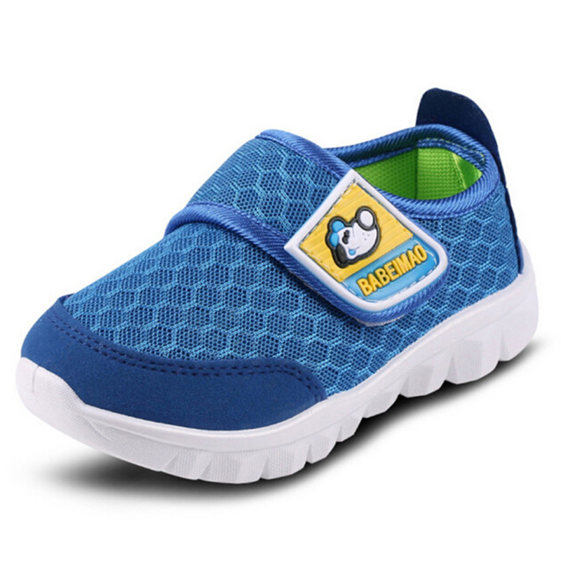 2020 Fashionable Children Infant Kids Baby Girls Boys Solid Stretch Mesh Net Breathable Sport Run Sneakers Shoes