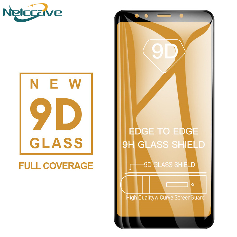 50 Pieces 9D Curved Full Coverage Tempered Glass For Samsung A9S A8S A6S A9 Pro 2019 A8 Star A9 2018 Screen Protector Film