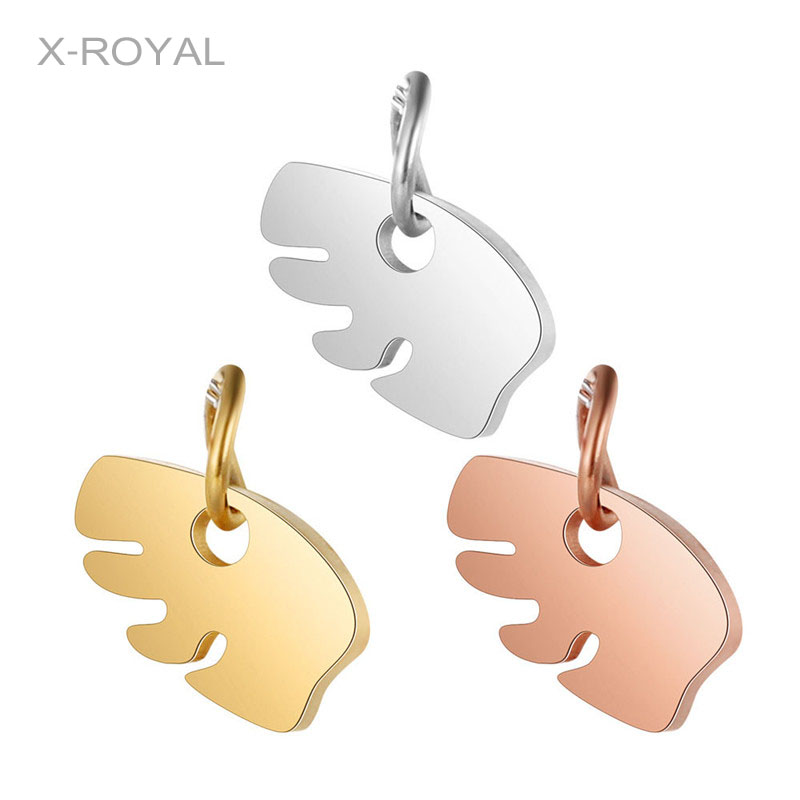 X ROYAL 5Pcs lot Luxury Jewelry DIY Accessories Bear Pattern Pendant Stainless Steel Gold Rose Gold Color Necklace Pendant Charm in Jewelry Findings Components from Jewelry Accessories