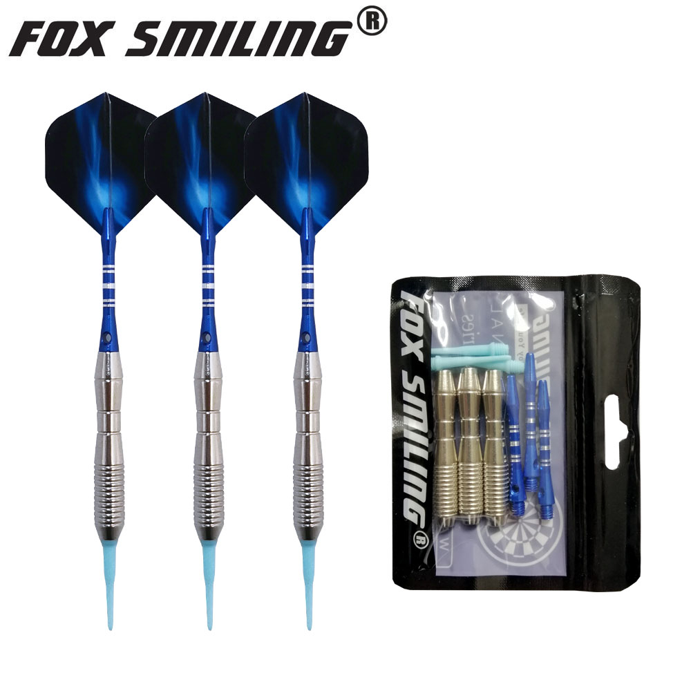 298.2руб. 23% СКИДКА|Fox Smiling 3 шт. 18 г профессиональный электрический мягкий наконечник Дартс с алюминиевым валом|Дартс| |  - AliExpress