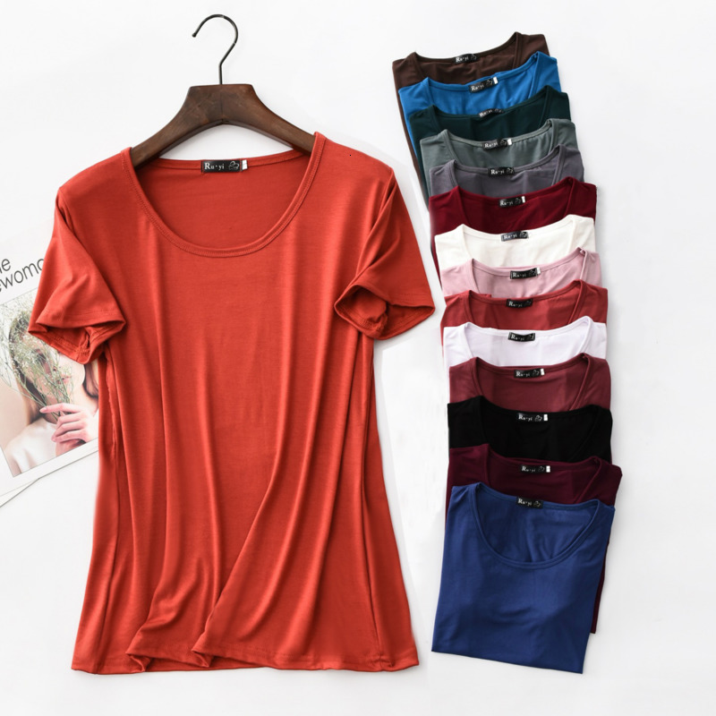 Women Summer T-shirt Short Sleeve Casual Loose O-Neck Top Tee Clothes Plus Size