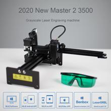 NEJE Master 3500mw Yüksek Hızlı mini cnc lazer Gravür Oyma Makinesi için Metal/Ahşap Yönlendirici/Kağıt Kesici/Masaüstü kesici