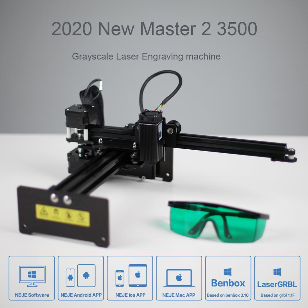 NEJE Master2 3500mw Mini CNC Laser Engraver Engraving Machine With Wireless APP Control - Benbox - GRBL1.1f - LaserGRBL