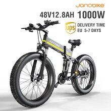 1000W H26 vélo électrique 4.0 gros pneu e-bike 12.8A Panasonic batterie vélo électrique avec frein hydraulique 26 pouces Biycle électrique