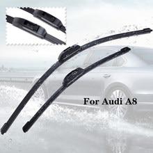A8 Wiper blades Para Audi a partir de 1994 1995 1996 1997 1998 1999 2000 2001 2002 2003 2004 2005 2006 2007 a 2017 brisa do carro Limpo