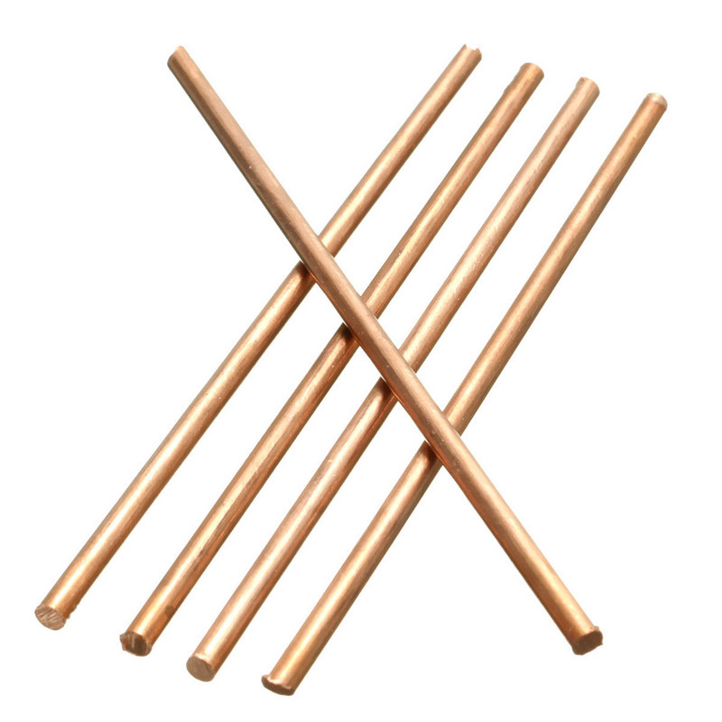 5Pcs 3mm Diameter Solid Round Red Copper Bar 100mm Length Metal Electrode Soldering Rod Welding Brazing Wire