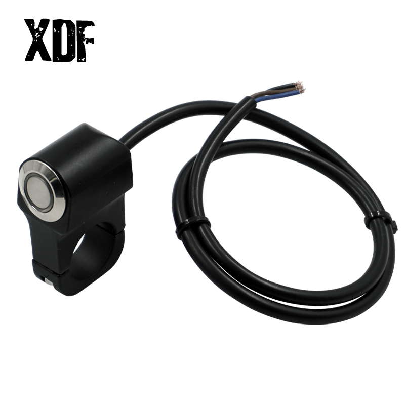 Motorcycle <font><b>Switches</b></font> <font><b>ATV</b></font> Scooter 22mm 24mm Handlebar Headlight Hazard Fog Light <font><b>Switch</b></font> Momentry/Latching ON-OFF Button with LED image